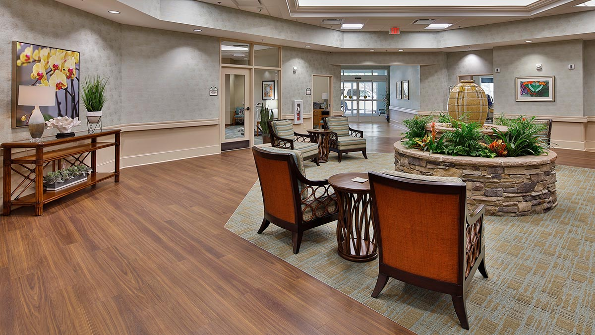 Bermuda Village - Rehabilitation & Nursing - Physical Therapy Addition - Lobby