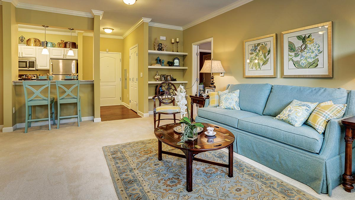 Cambridge Village of Apex - Independent Living - Living Room