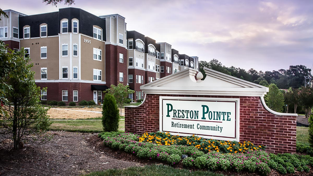 Preston Pointe - Independent Living - Entrance