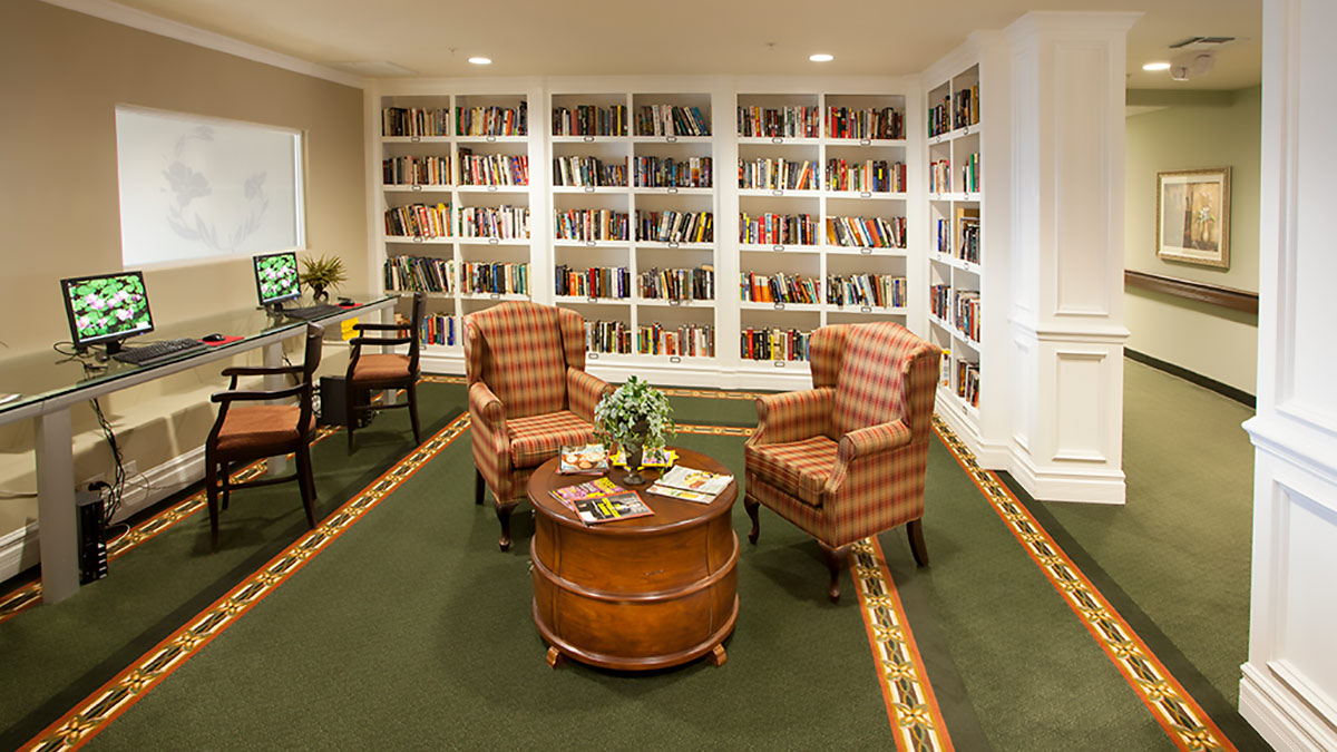 Preston Pointe - Independent Living - Library
