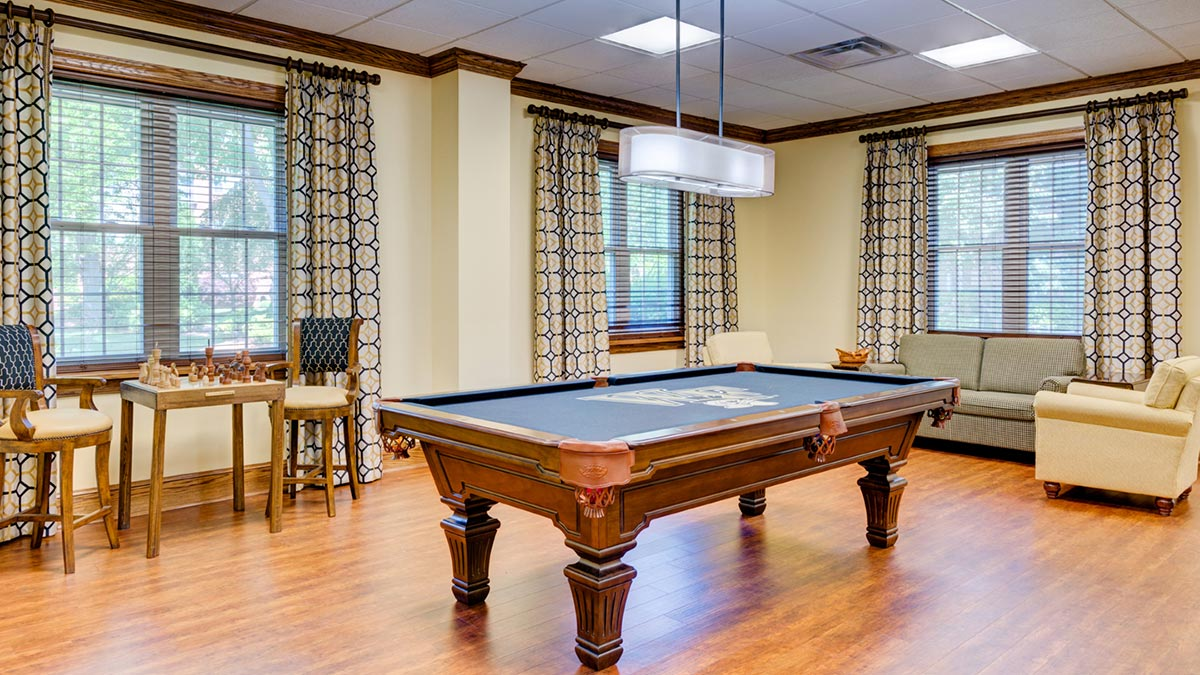 Salemtowne - Life Plan Community - Billards
