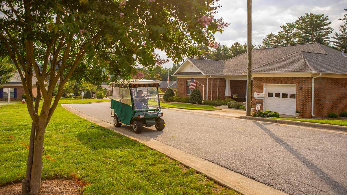 WhiteStone - Life Plan Community - House with Golf Cart
