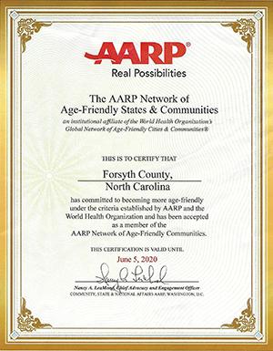 AARP Certificate
