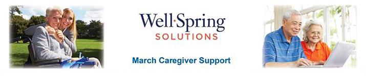Well-Spring Solutions - Caregiver Support Flyer - March 2019