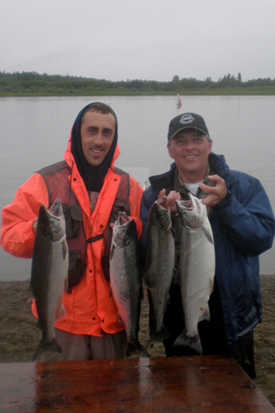Salad Days - Doug Calaway with son John - Fishing