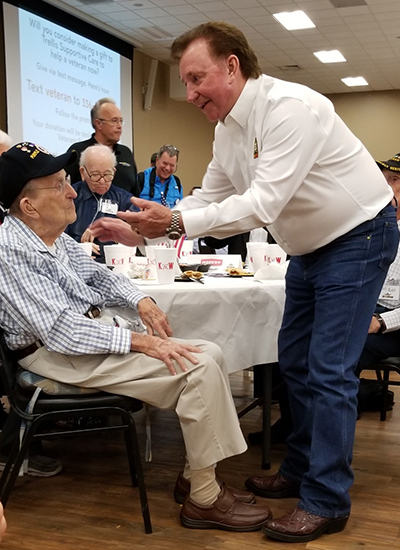 D Day Event - Richard-Childress and Phil Hewitt - WWII Veteran