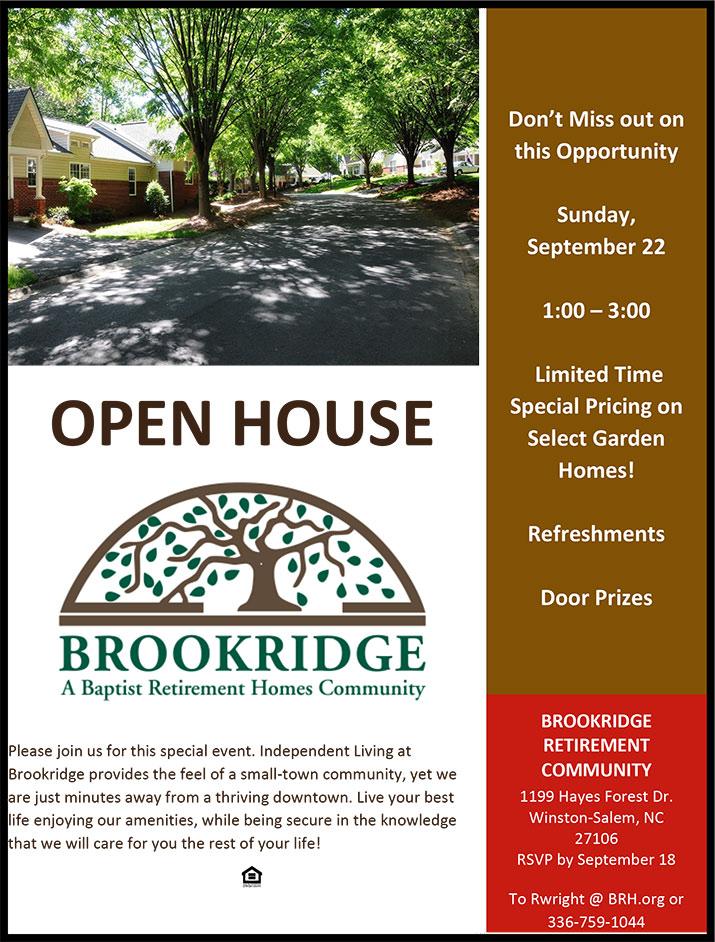 Brookridge - Open House Flyer