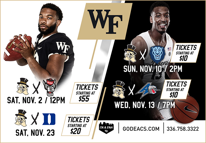 Wake Forest - November Schedule