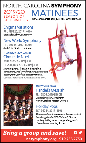 NC Symphony - November & December 2019 Schedule