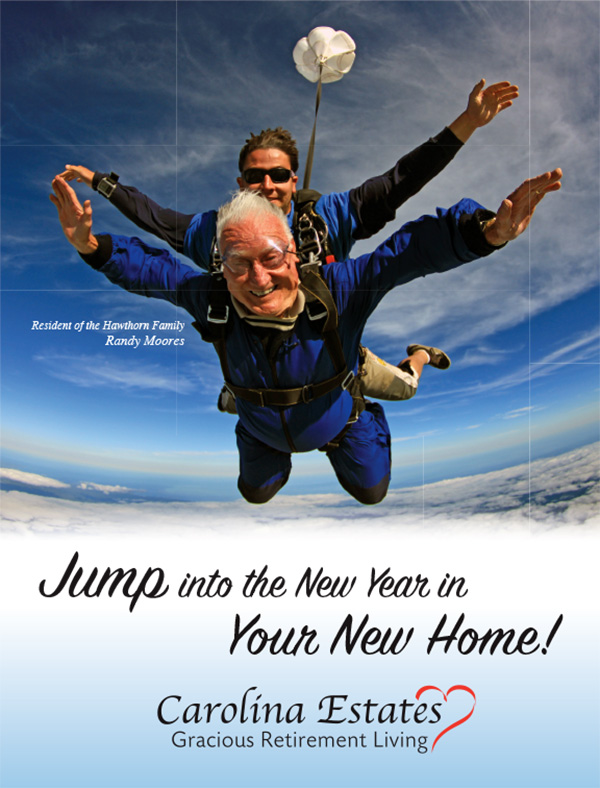 Carolina Estates - Jump into the New Year Flyer