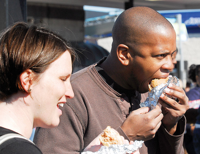 People Eating Lexington Barbecue