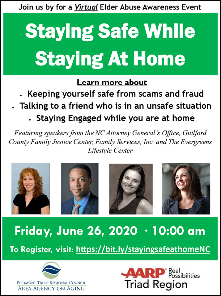 Staying Safe While Staying at Home Flyer