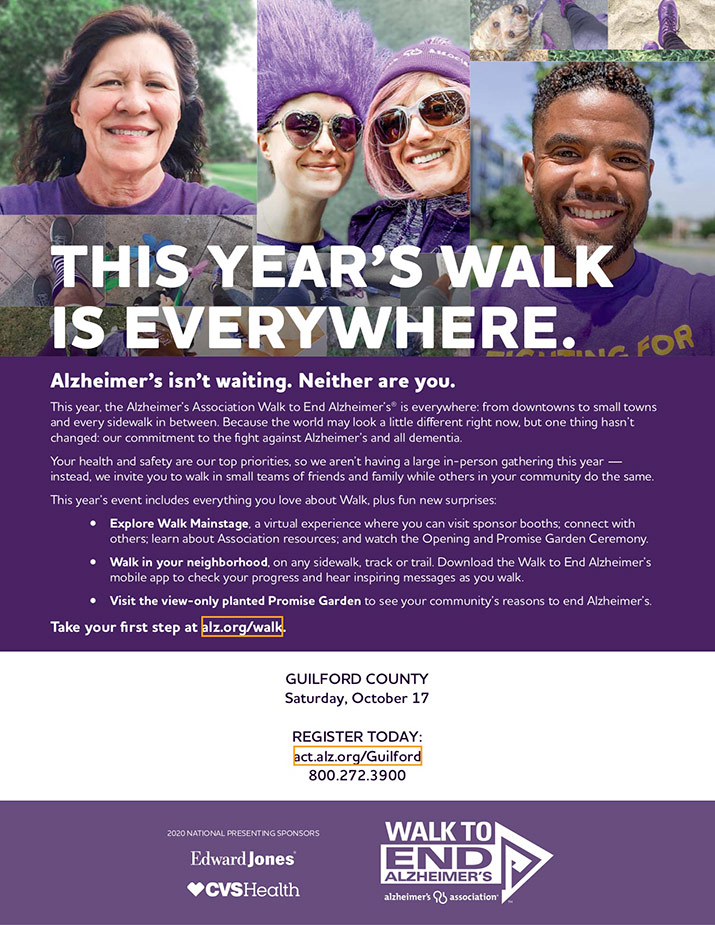 Walk to End Alzheimer's - Flyer