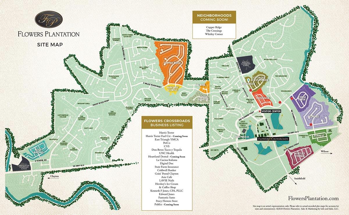 Flowers Plantation - Site Map