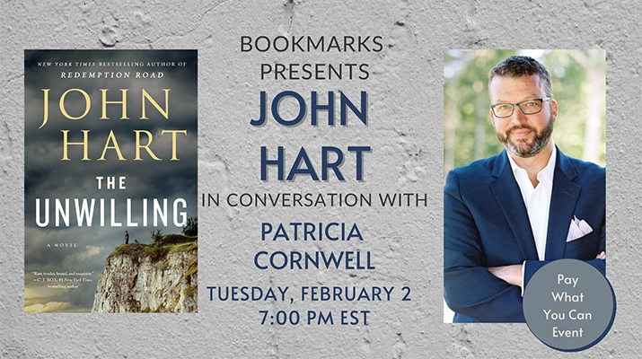Bookmarks Presents John Hart in Conversation with Patricia Cornwell