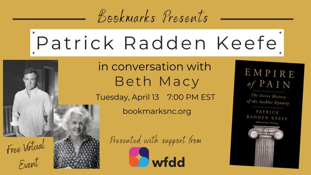 Bookmarks - Patrick Radden Keefe Flyer