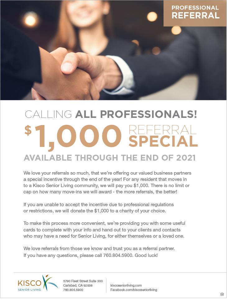 Kisco Senior Living - Professional Referral Flyer